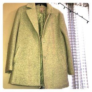 Mint green dress coat